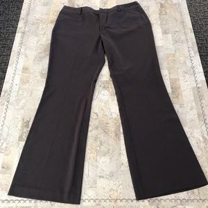 Mossimo career trousers brown wide leg size 14